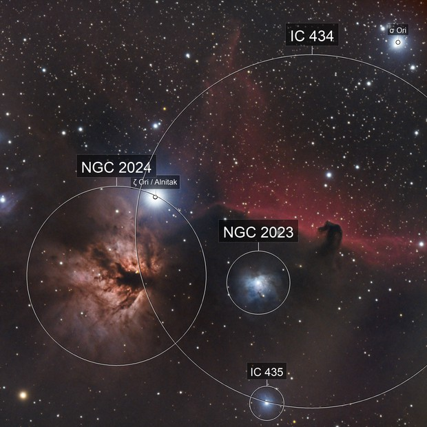B33, NGC2023,  NGC2024
