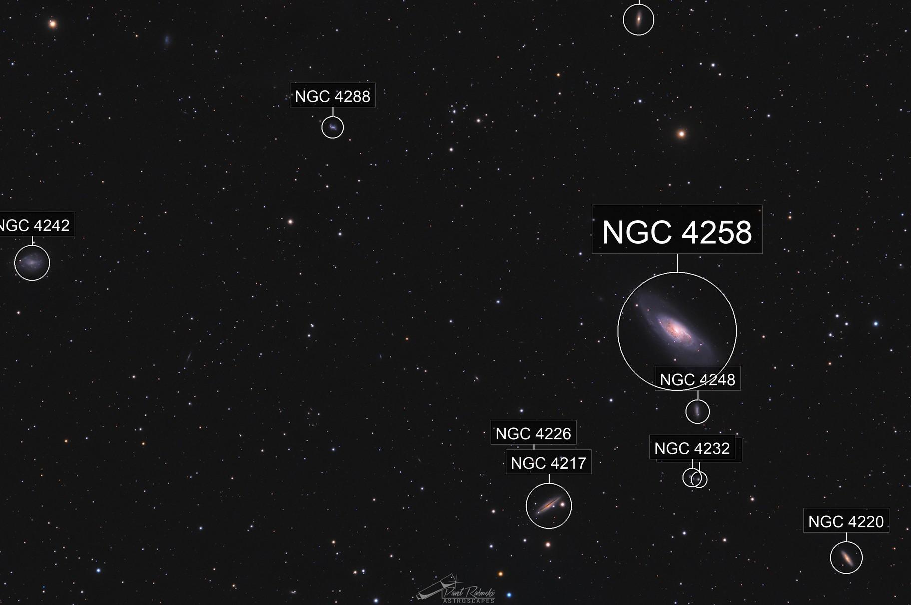 Messier 106 In HaLRGB