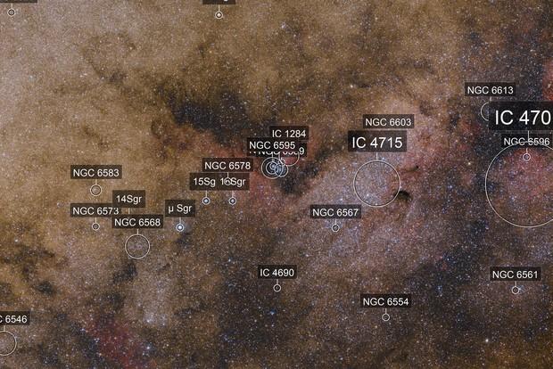 Sh2-37 and M24 the smaller Sagittarius star cloud