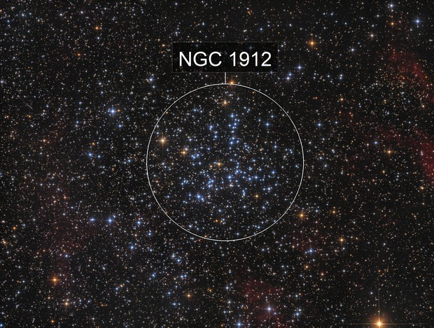 M38 open cluster in Aur