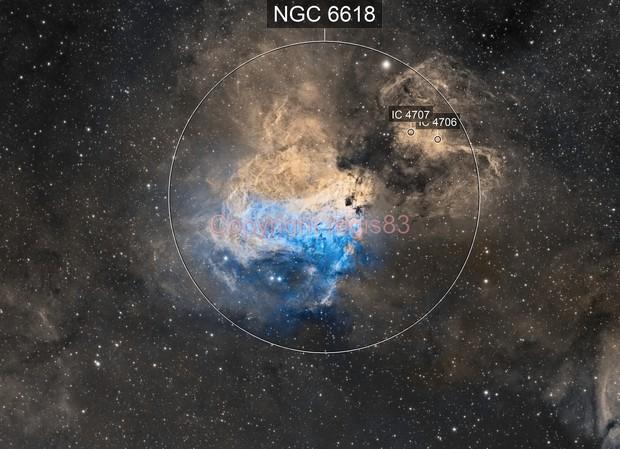 Messier 17 - Swan Nebula SHO
