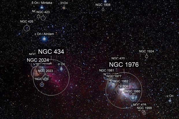 Orion Belt and Nebulae