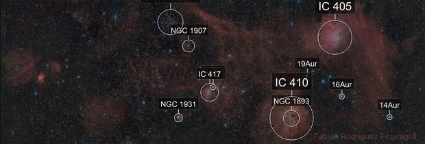Sh2-229 - Flaming Star Nebula