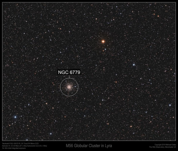 M56 Globular Cluster in Lyra