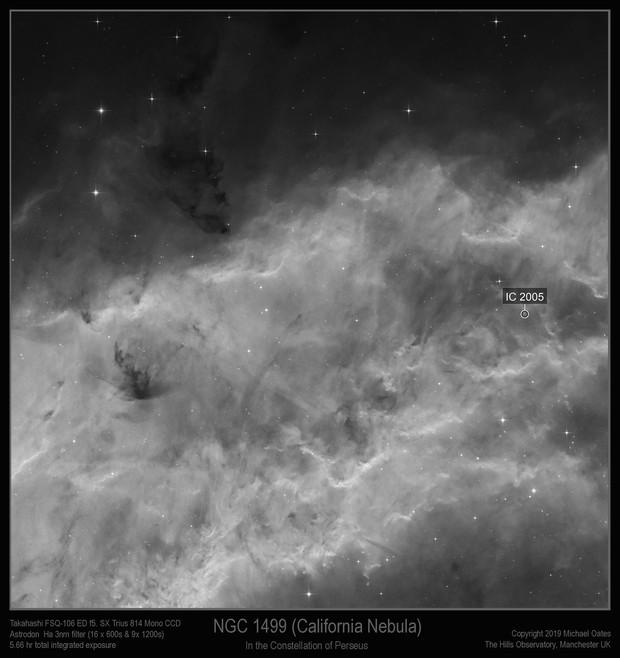 NGC 1499 (California Nebula) Ha