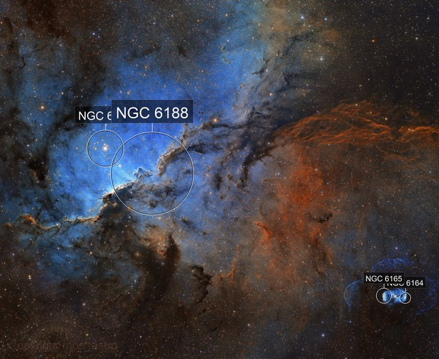 NGC 6188 - The Fighting Dragons of Ara