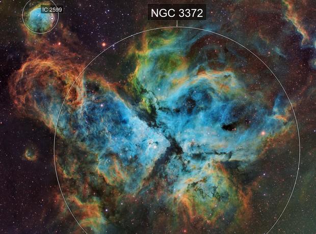 NGC 3372 The Carina Nebula in SHO