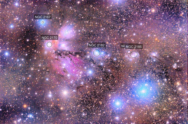 NGC 2182 & Other stuff in Monoceros