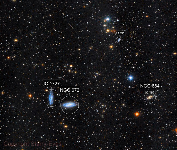 NGC 672 & Other Galaxies in Triangulum