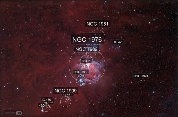 Orion nebula widefield
