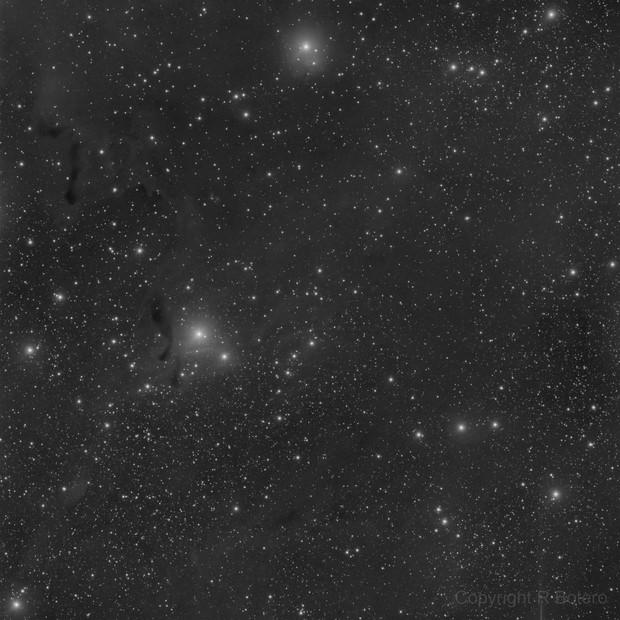 LBN 643 - LRGB - including reflection nebulae vdB 7, 8 and 9