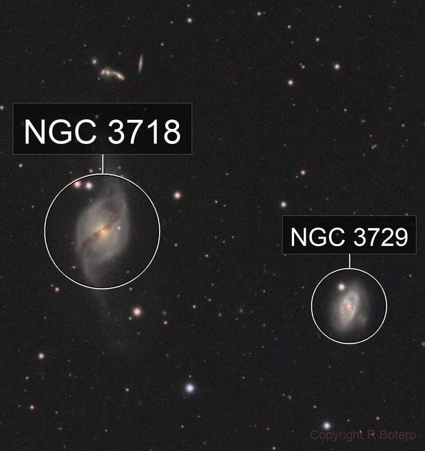 NGC 3718 - wide field - LRGB