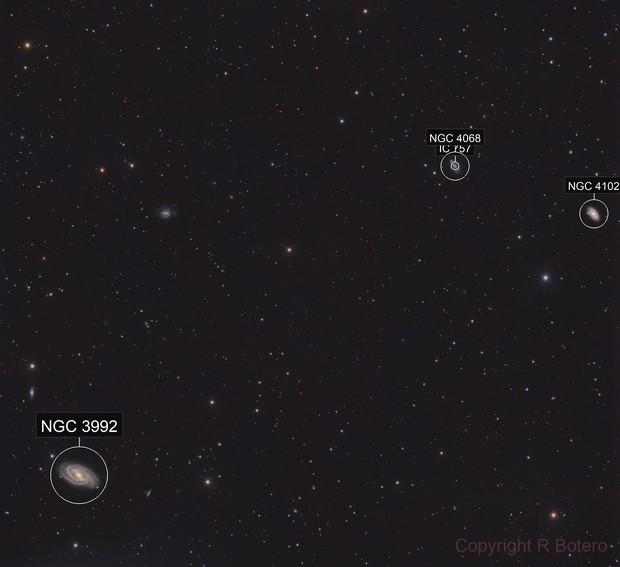 M109, NGC4068, NGC4102 - LRGB - wide field