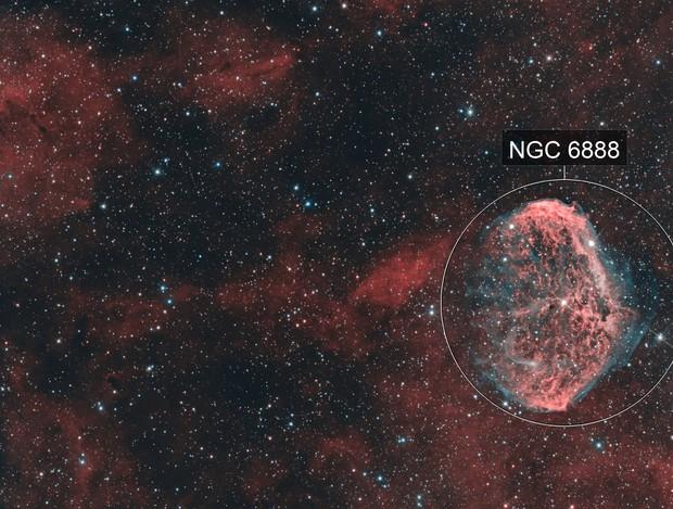 NGC 6888 and Soap Bubble Nebula in HOO, T150 f/5  /  ATIK ONE  /  AZEQ5