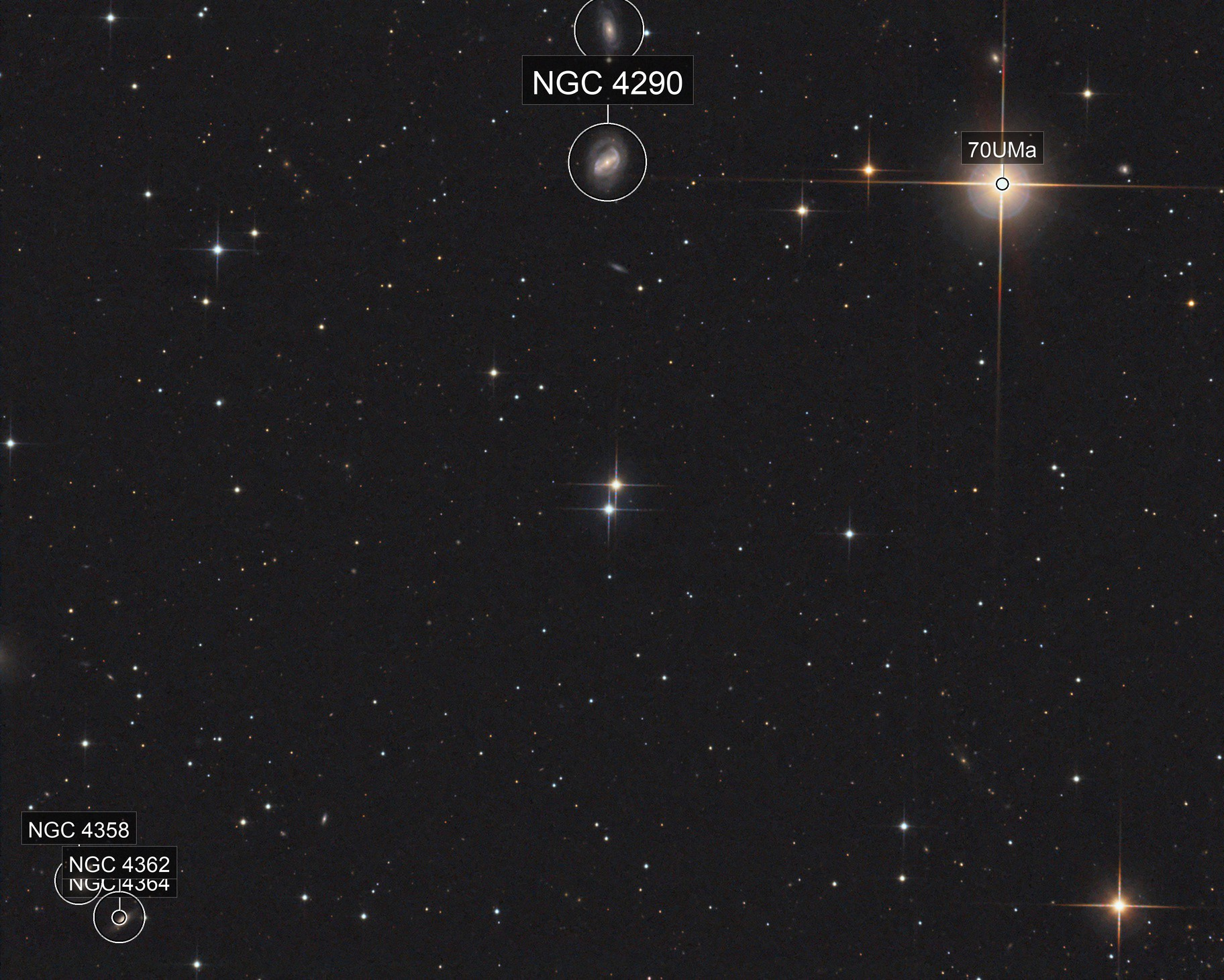 M40, NGC4290 and others, T250 f/4  /  ATIK ONE  /  AZEQ6