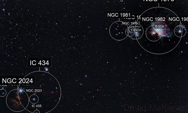 4 Nebulae of Orion