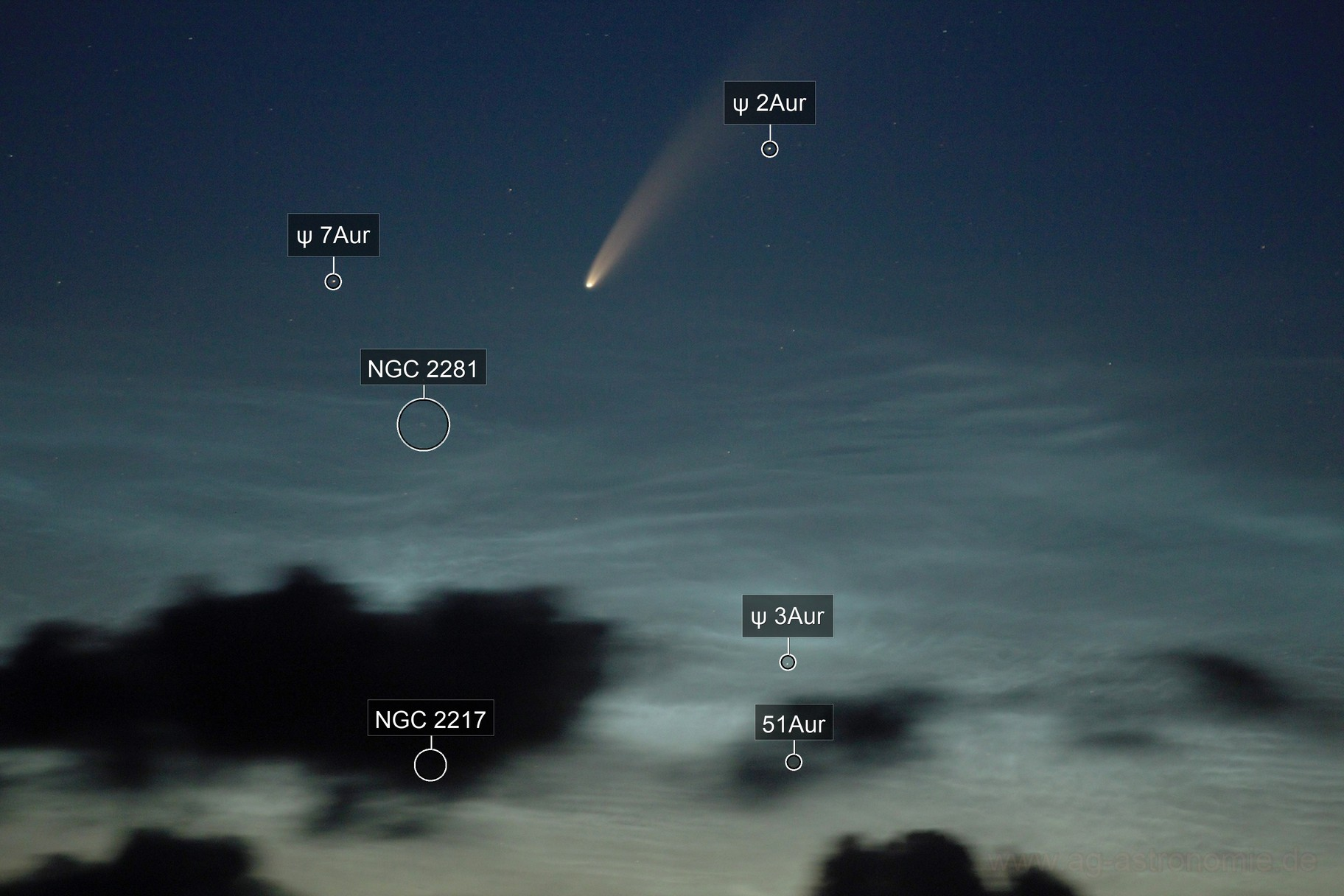 Comet Neowise over NLC