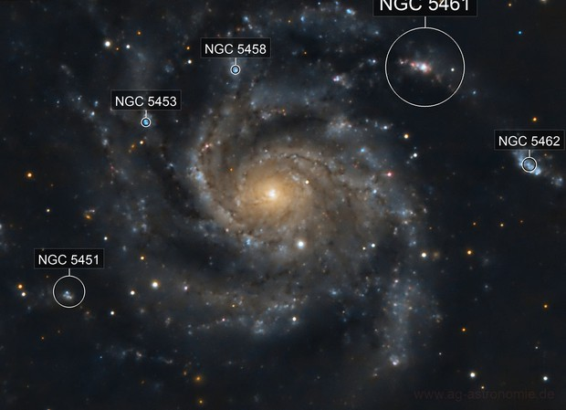 Pinwheel Galaxy (Messier 101) - LRGB