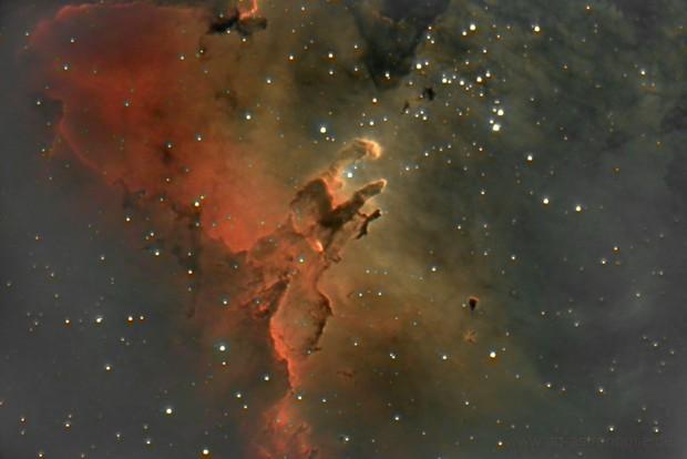 Pillars of creation in Eagle Nebula (Messier 16)
