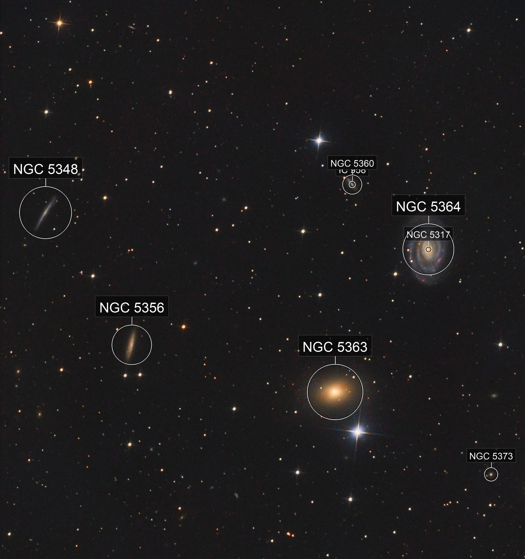 NGC5364 and Friends