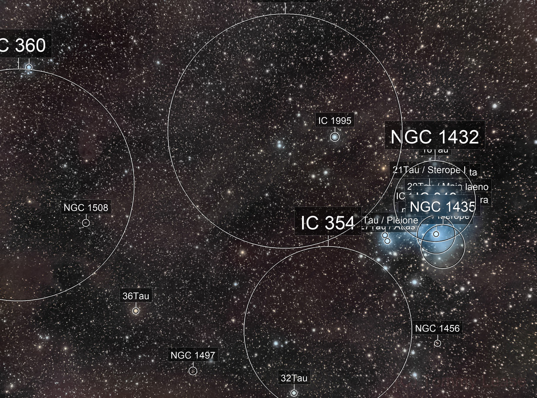 The Pleiades and Friends (Widefield)