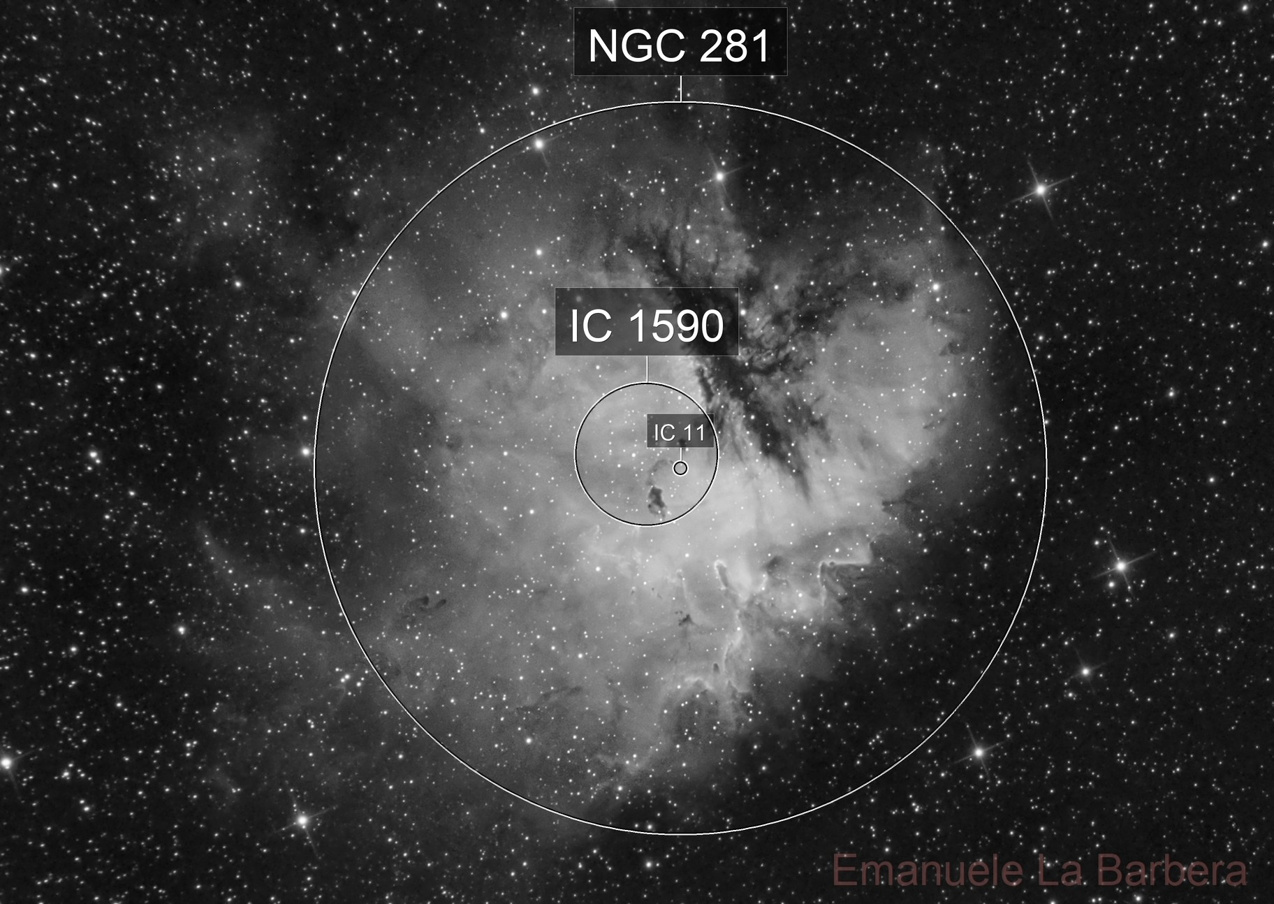 PACMAN NEBULA IN H'ALPHA: FIRST LIGHT FOR ZWO ASI 183MM