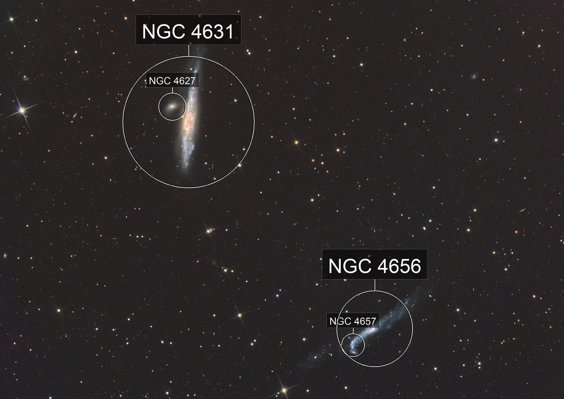 NGC 4631 and NGC 4656