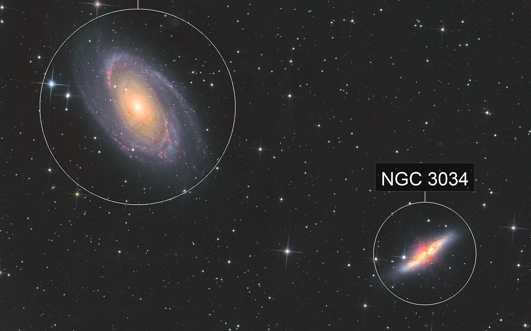 M81 M82 Bode`s und Zigarren Galaxy