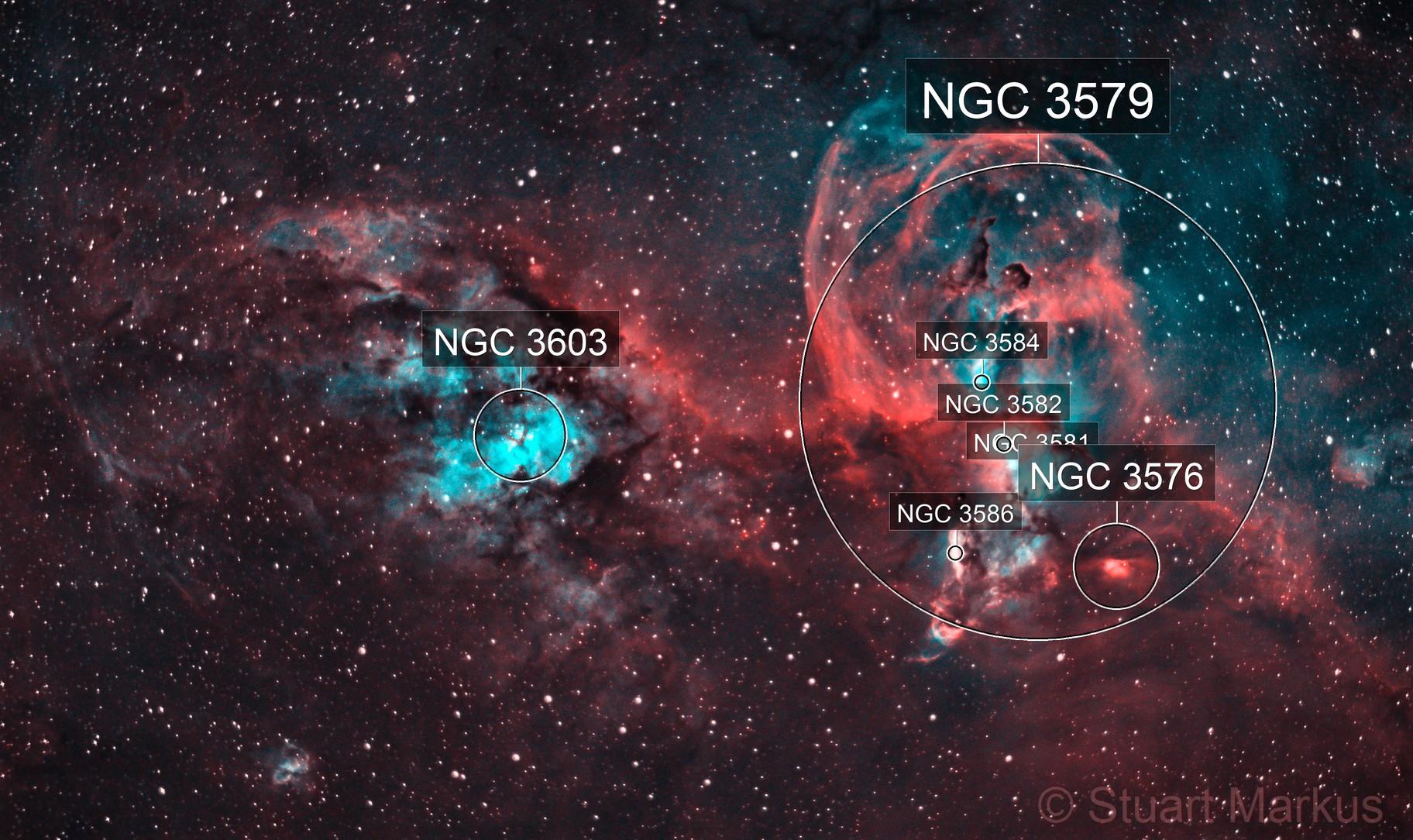 NGC3576 - Princess Leia / Statue of Liberty Nebula