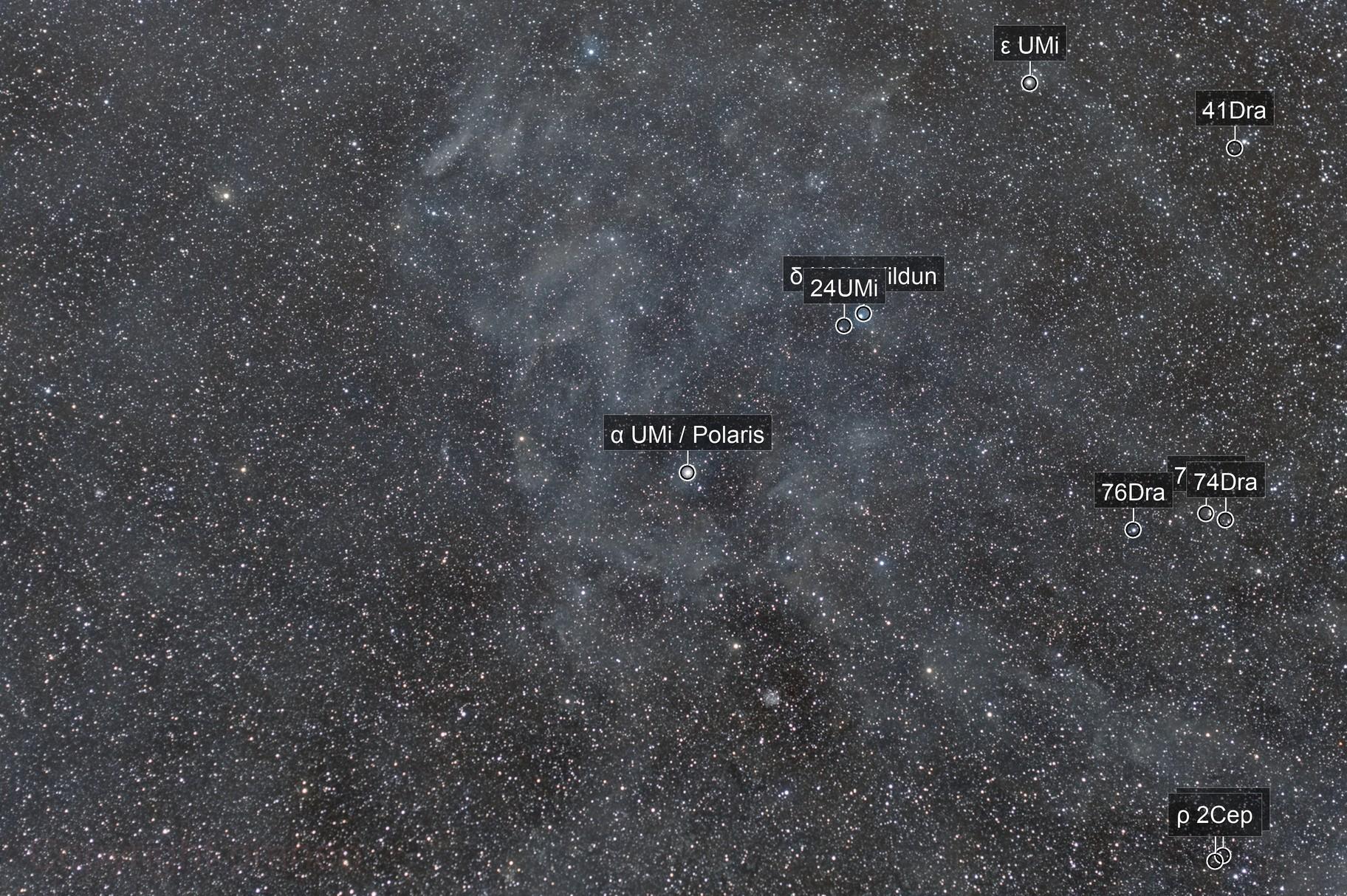 Dust around Polaris