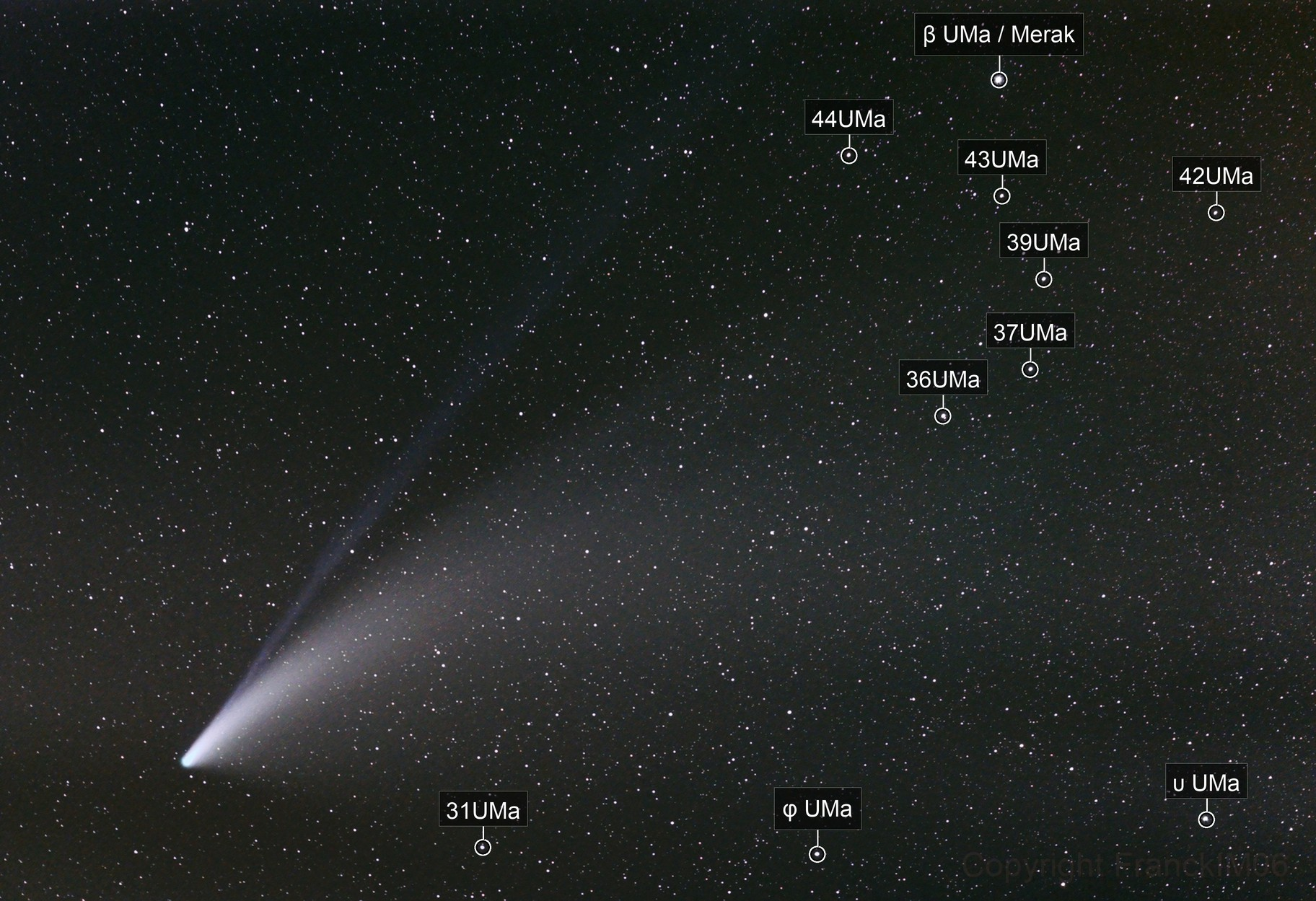 C2020F3 Neowise comet