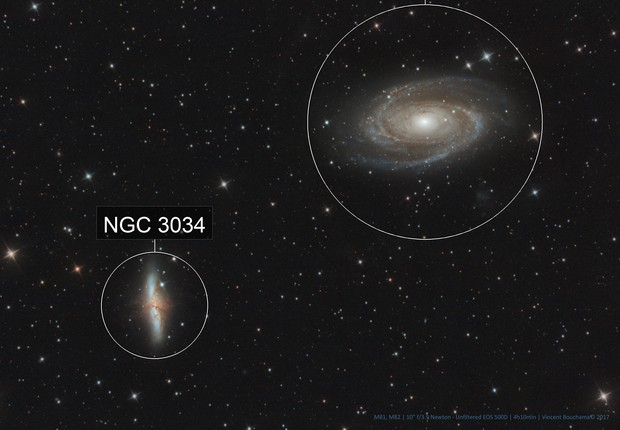 M81 and M82, Bode's and Cigar Galaxies [Drizzled x2]