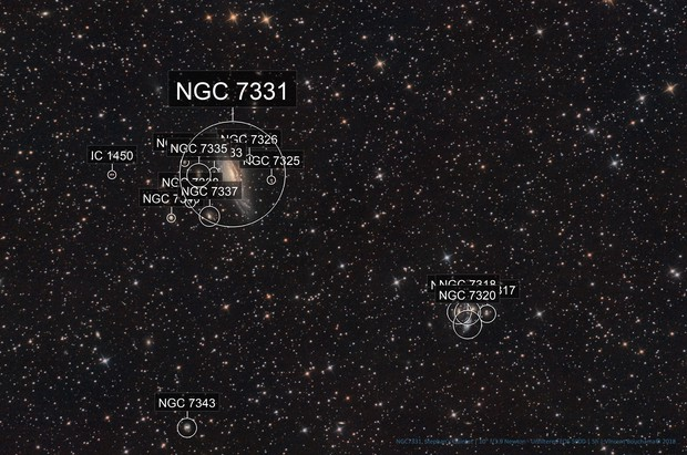 NGC7331, Stephan's Quintet [Drizzled x2]