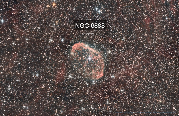 NGC6888, the Crescent Nebula [Drizzled x2]