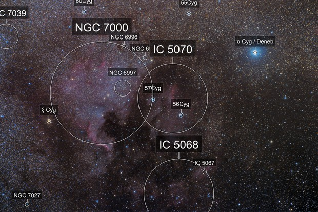 North America and Pelican Nebulae - Challenging Conditions