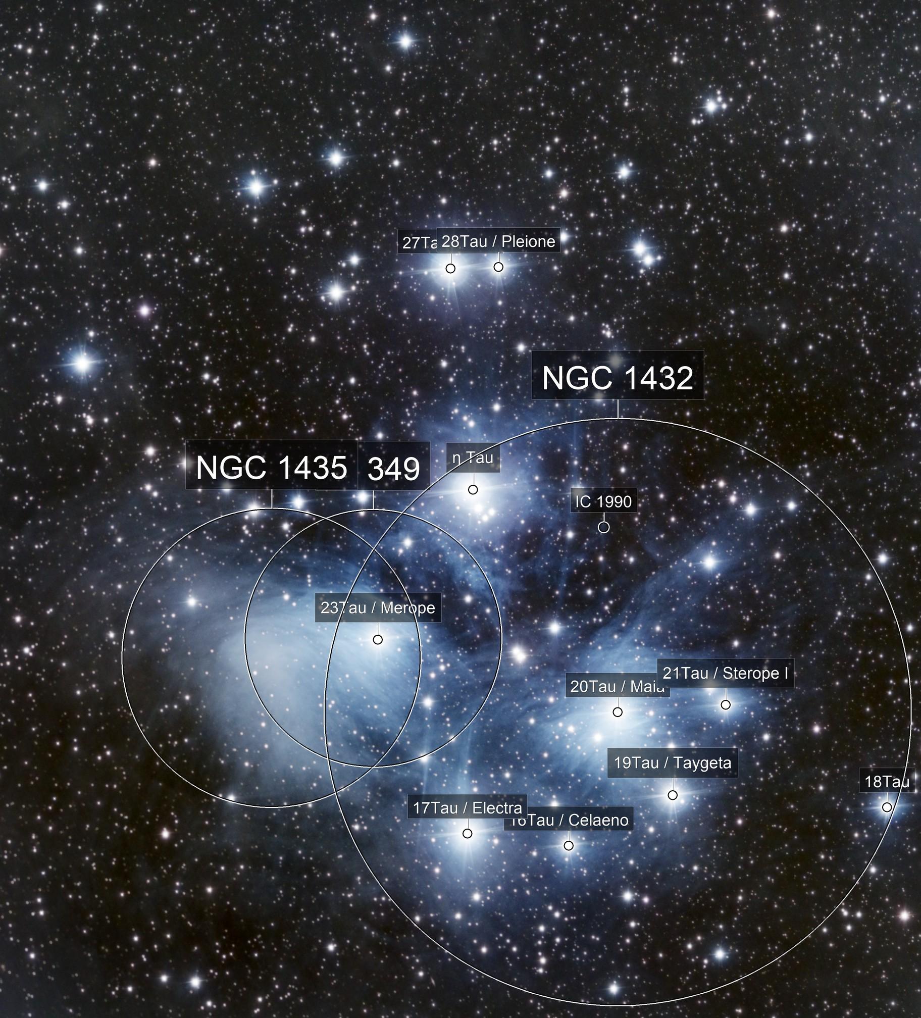M45 Pleiades  From Rural Kansas Skies