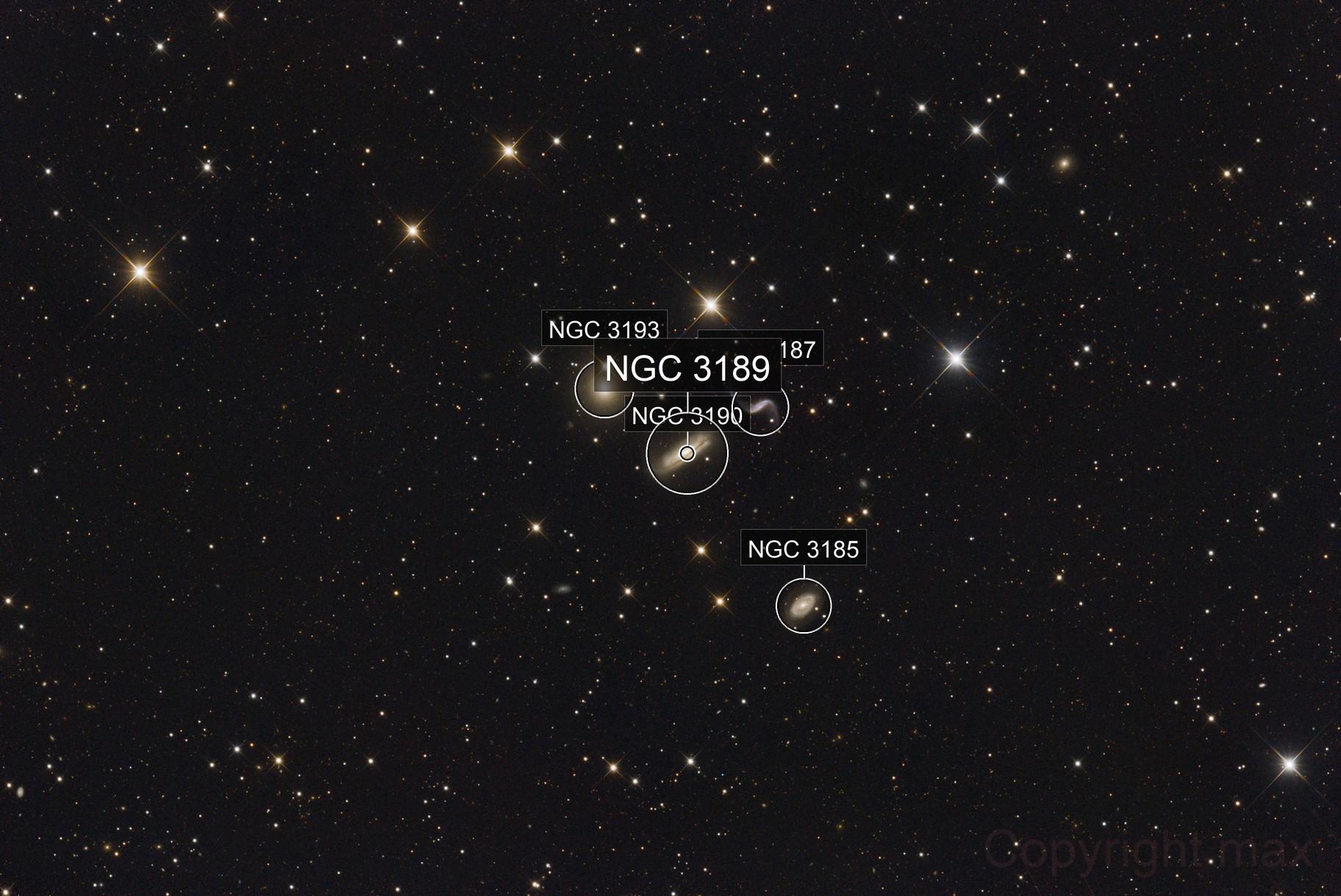 NGC3190 / ARP316    HICKSON 44 cluster