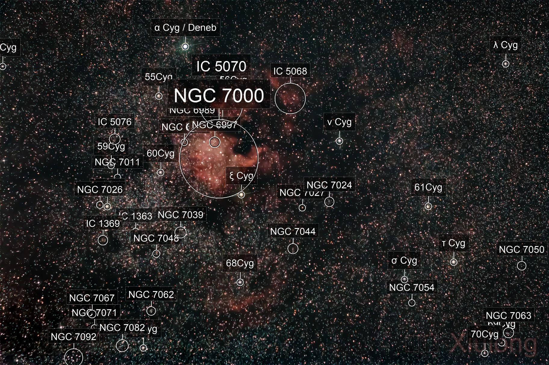 Cygnus, NGC7000, Debeb