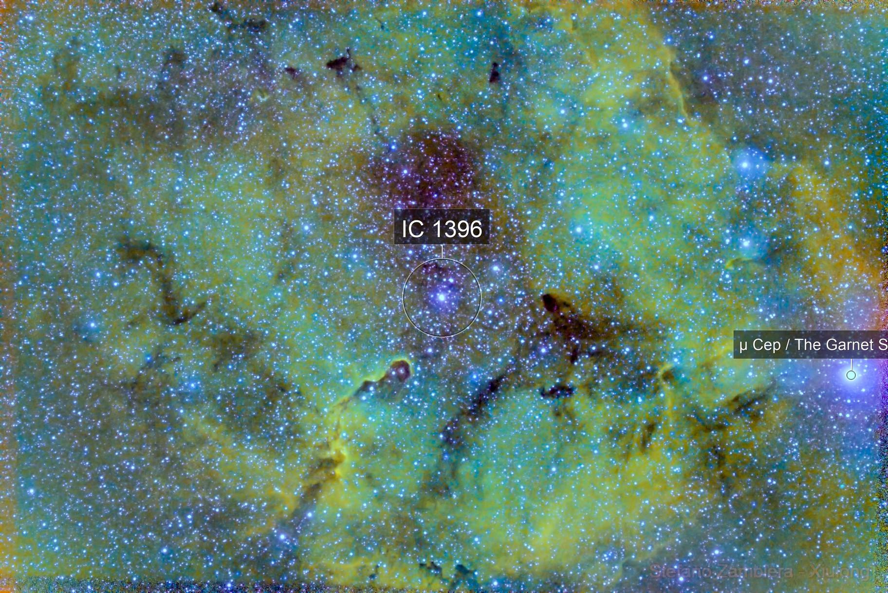 IC1396 region in HSO palette
