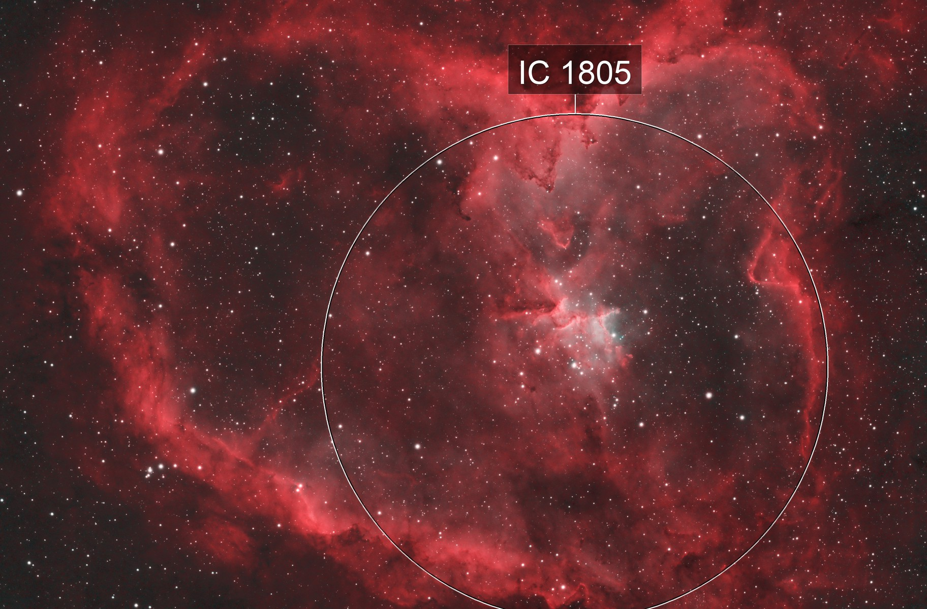 Heart Nebula - HOO