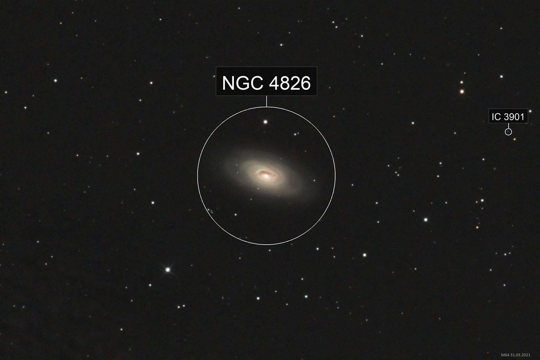 "Messier 64 ""Blackeye-Galaxie"""