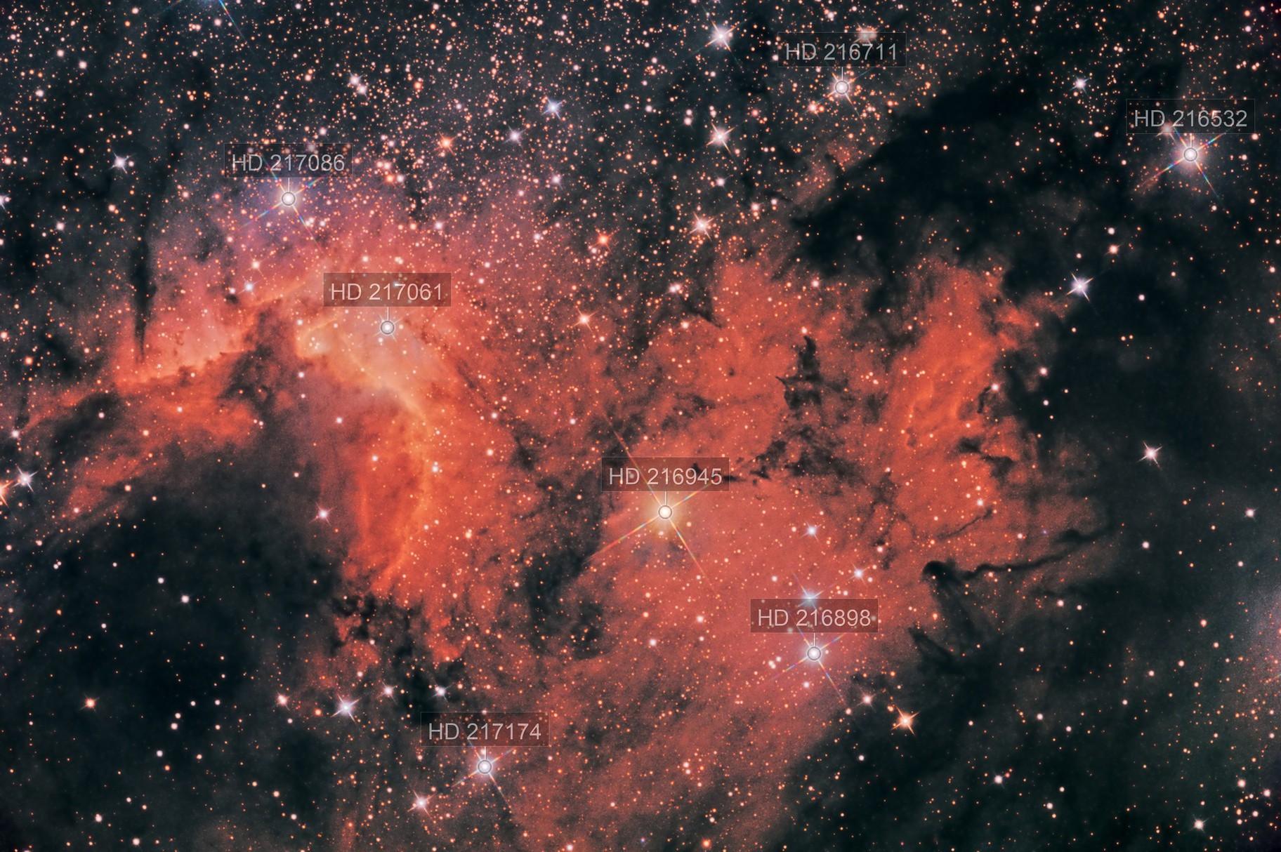 Sh2-155 - The Cave Nebula in LRGB+NB help