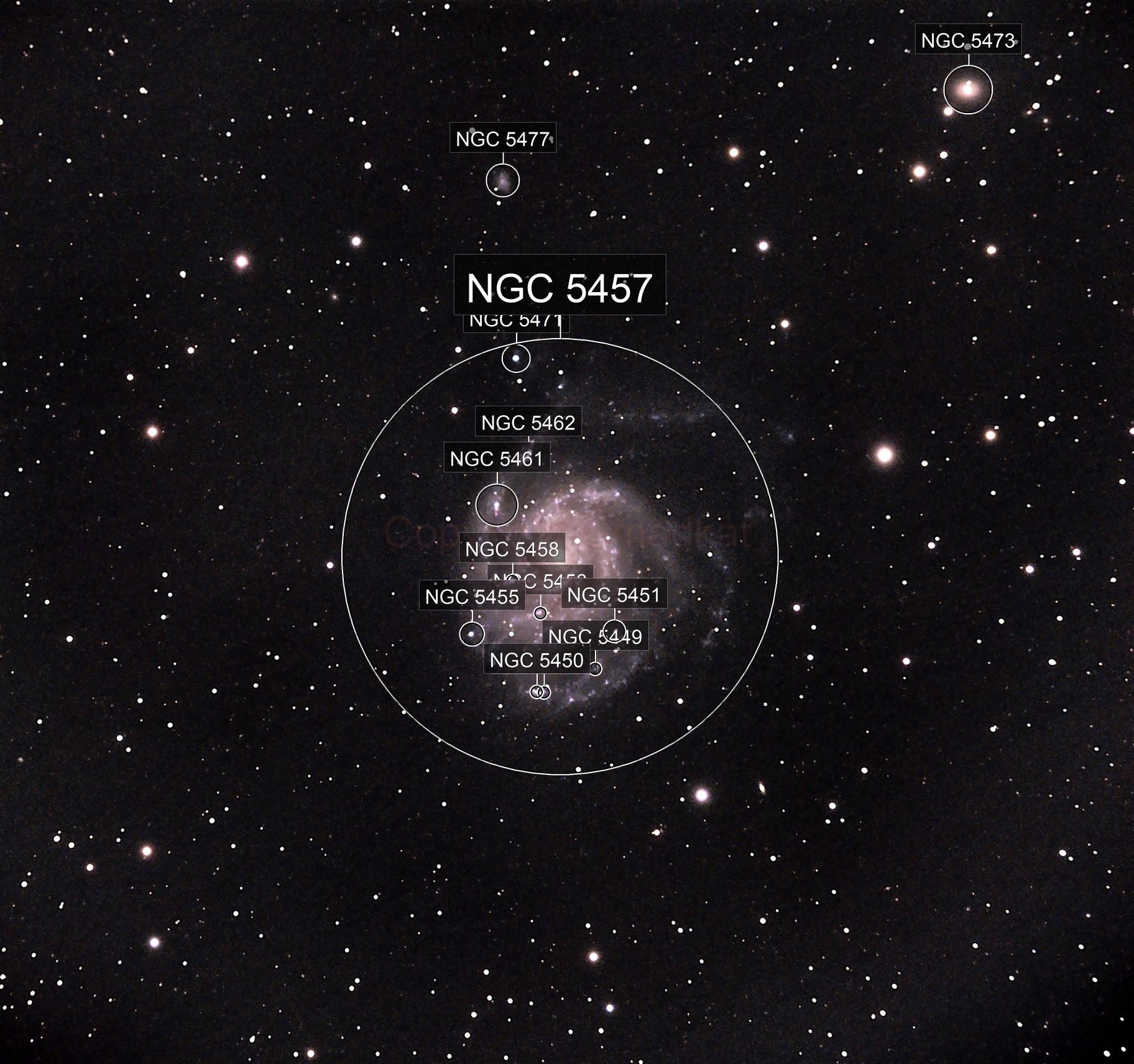 M101(Pinwheel Galaxy) in progress
