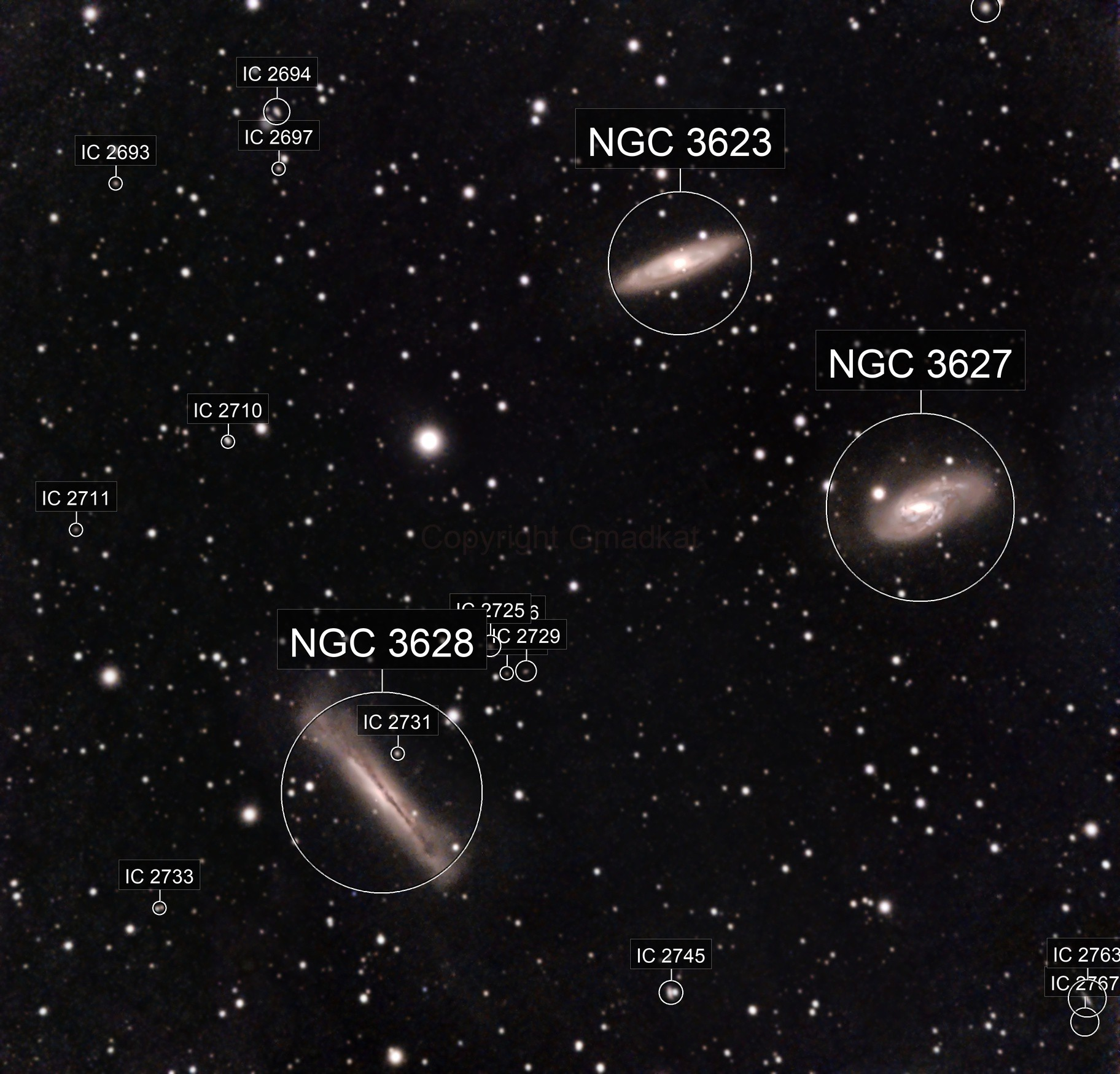 First attempt at the Leo Triplet