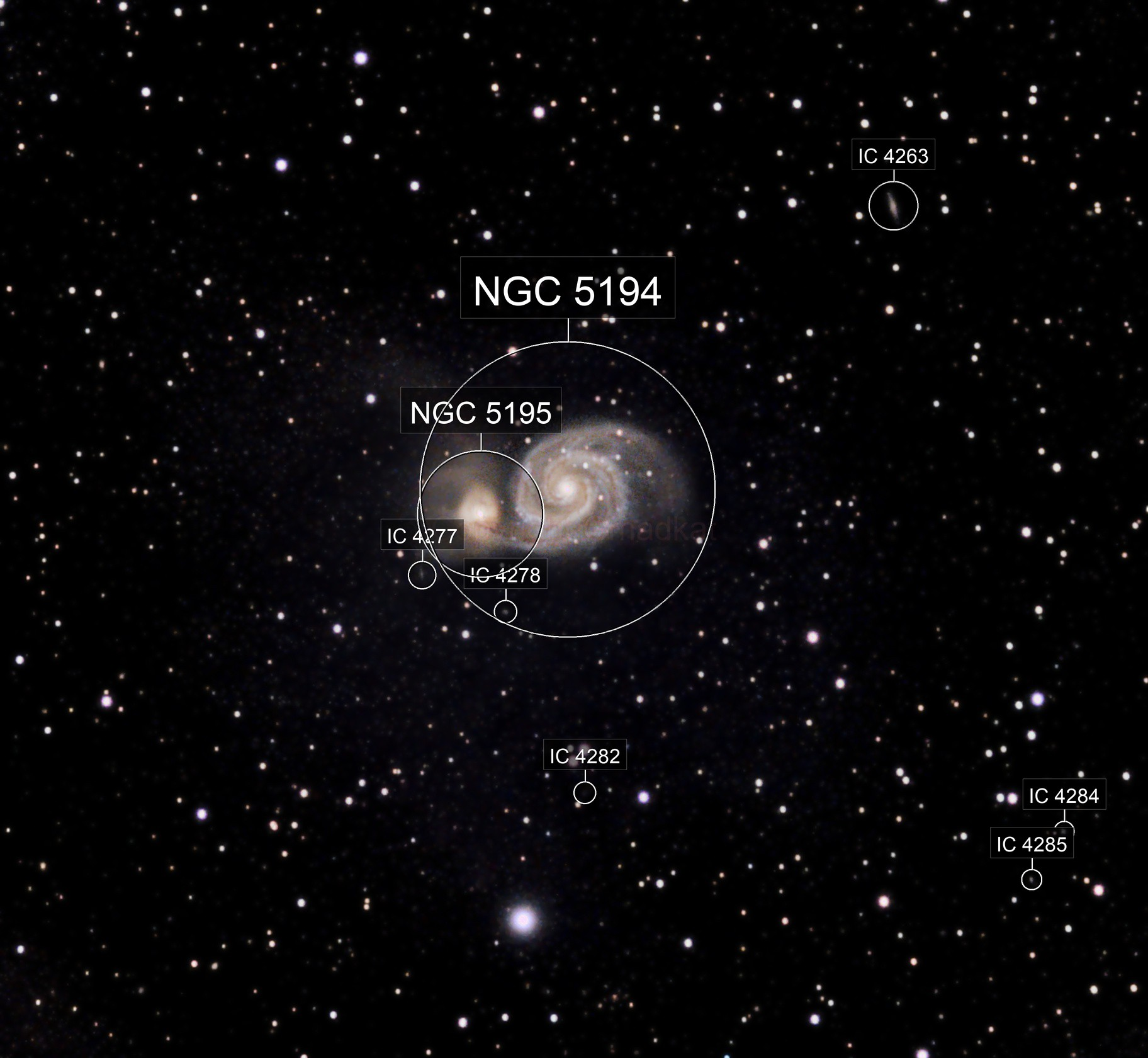First attempt at M51 (Whirlpool Galaxy) and NGC5195.