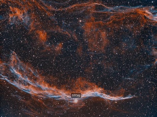 NGC6960, fragment of the Veil Nebula