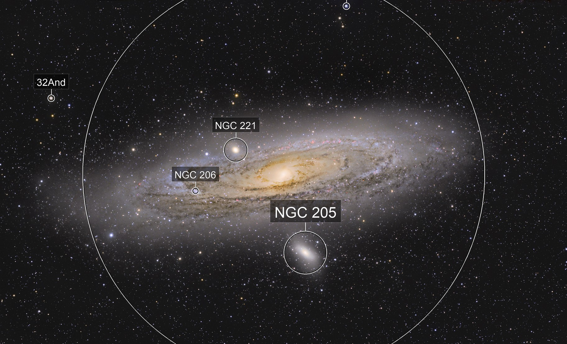M31 and its outer regions.