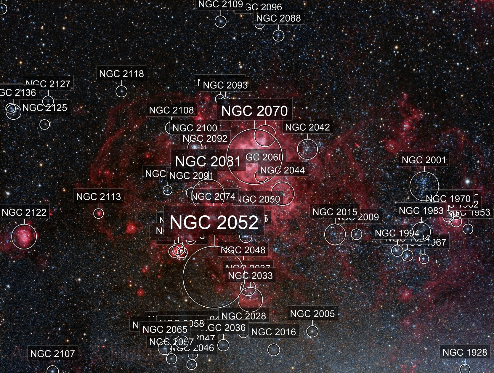 NGC2070, Tarantula Nebula
