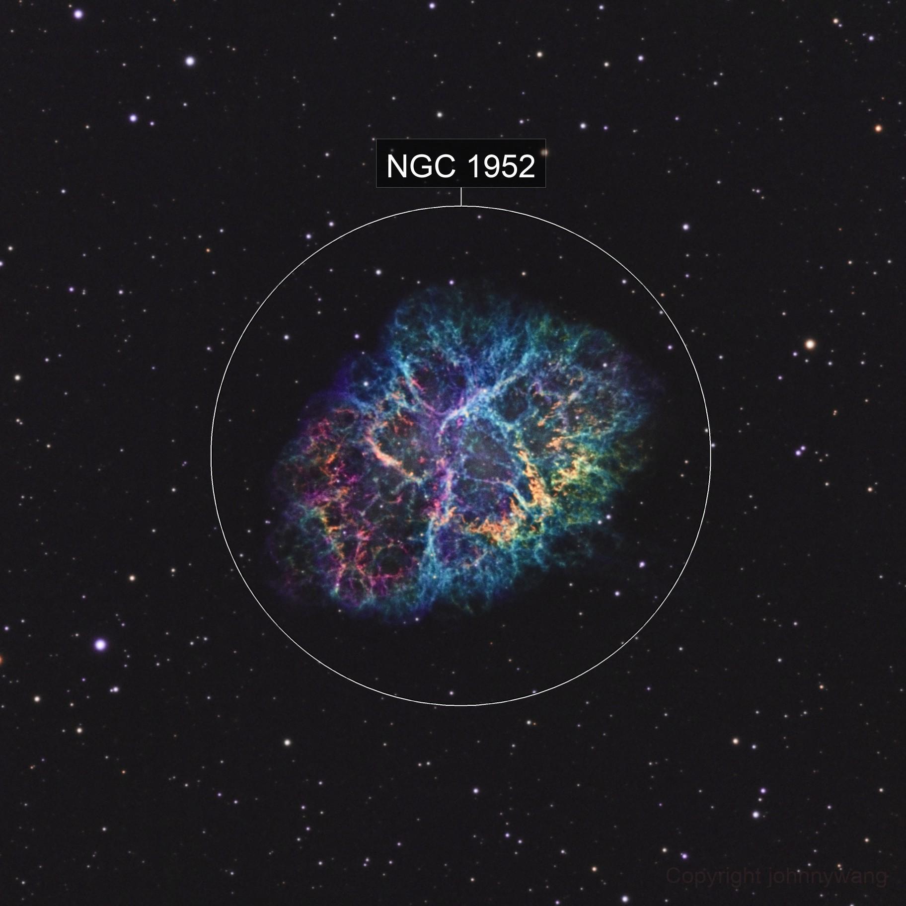 M1 The Crab Nebula In SHO