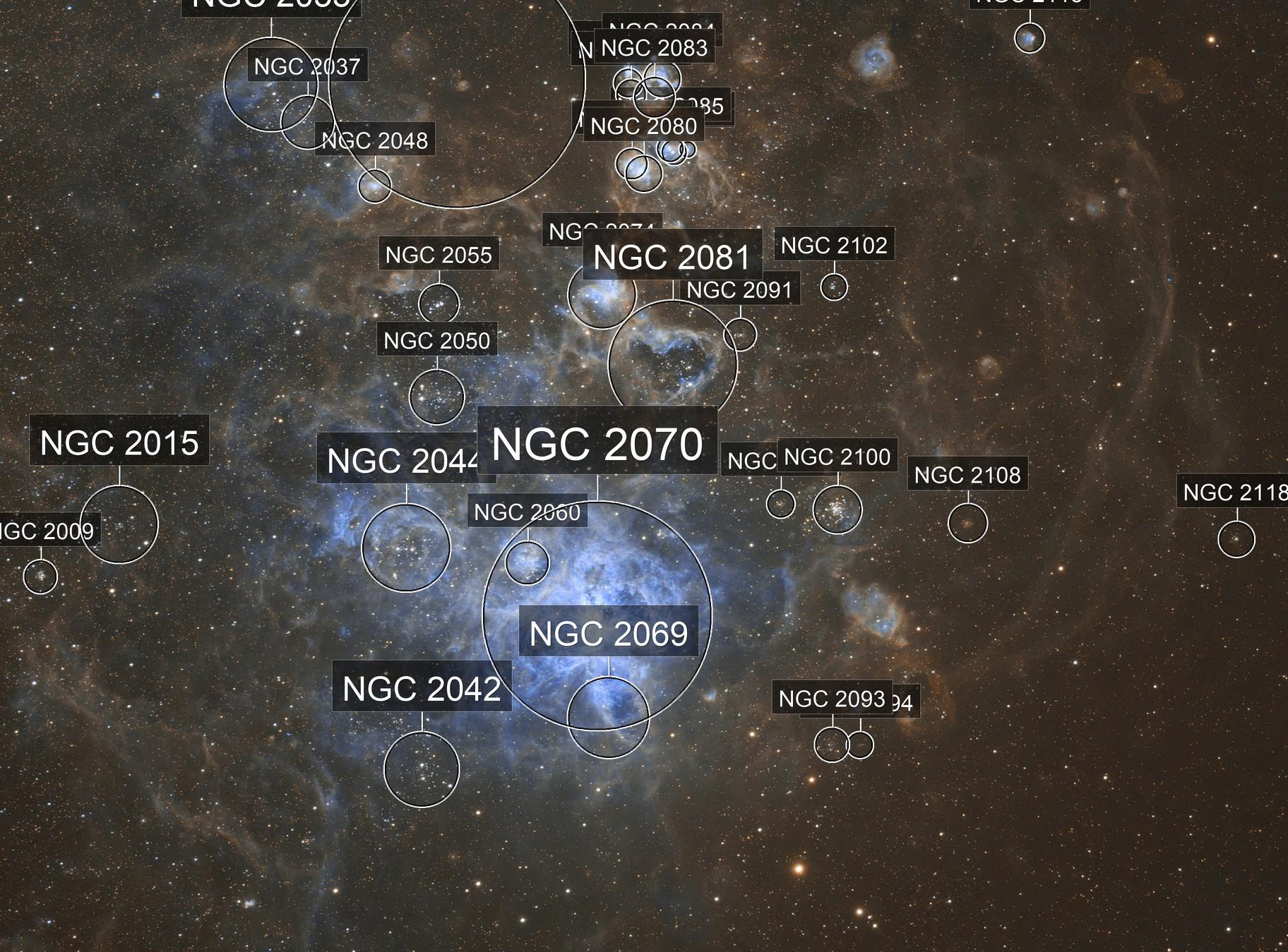 Tarantula nebula SHO